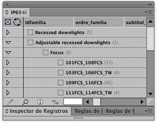 EasyCatalog. Panel datos