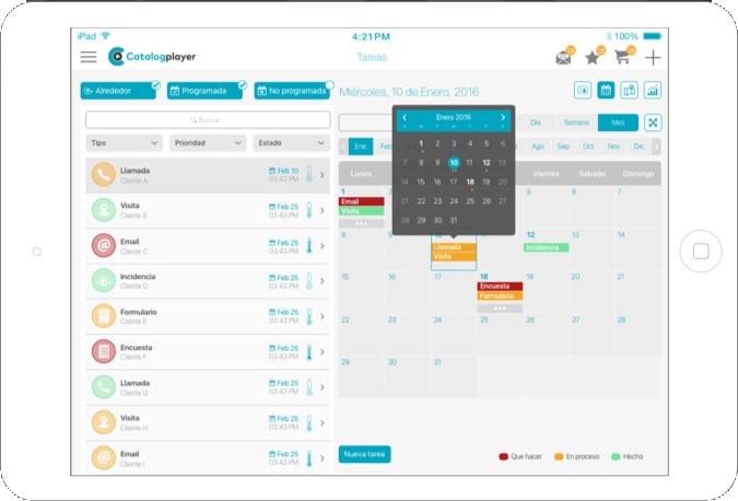ipad tablet nousmedis automatizacion planifica ordenes tareas visitas catalogplayer