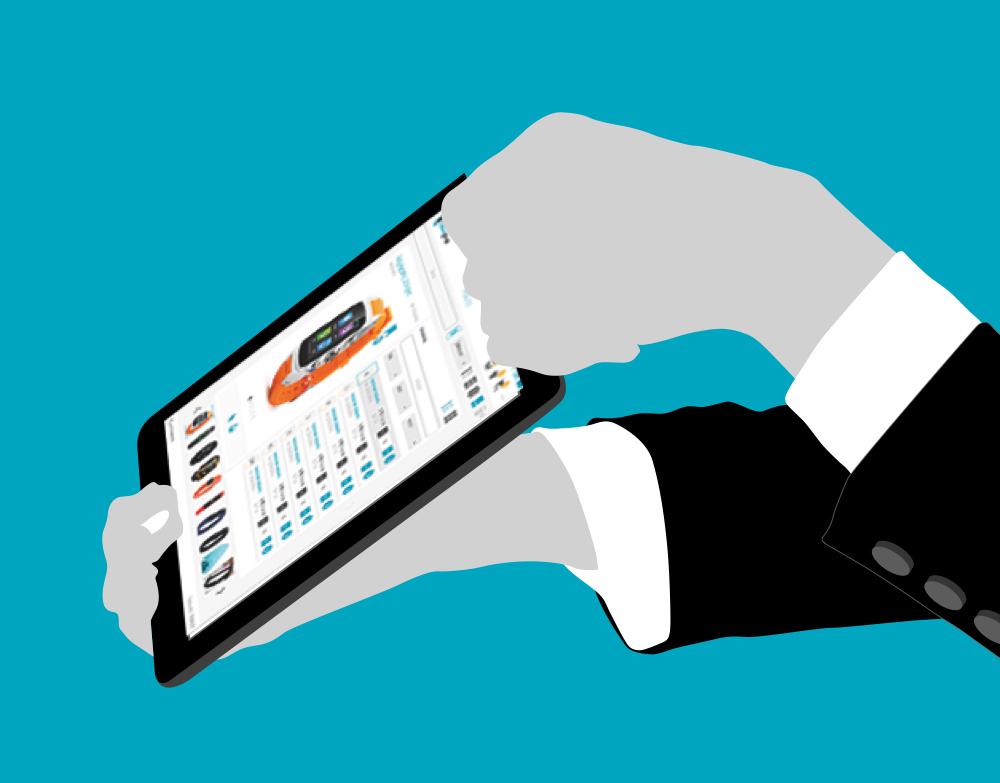 tablet automatizacion catalogo productos nousmedis cegelab catalogplayer